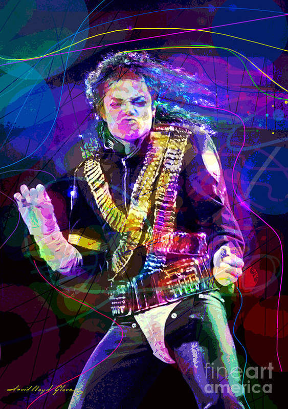 Michael Jackson Poster featuring the painting Michael Jackson '93 Moves by David Lloyd Glover