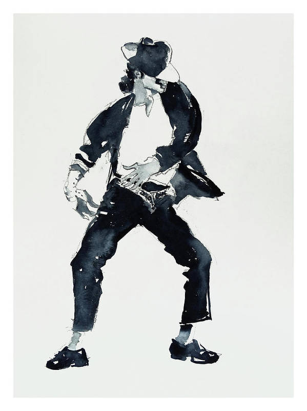 Michael Jackson Poster Featuring The Drawing Black Or White By Hitomi Osanai