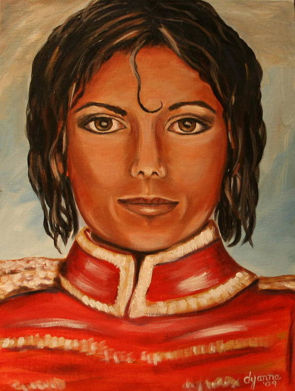 Michael Jackson Poster featuring the painting Michael Jackson by Dyanne Parker