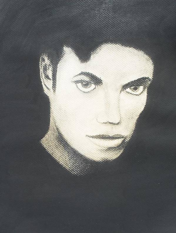 Pastel Poster featuring the pastel Michael Jackson by M Valeriano