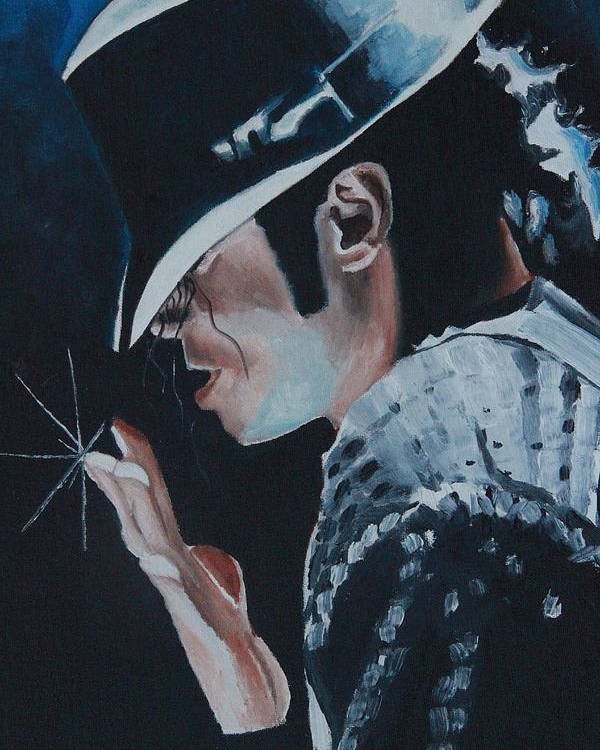 Michael Jackson Portrait Poster featuring the painting Michael Jackson by Mikayla Ziegler
