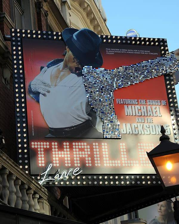 Michael Jackson Poster featuring the photograph Michael Jackson Musical by Sophie Vigneault