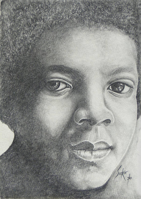 Michael Jackson. Mj Poster featuring the drawing Michael Jackson by Stephen Sookoo