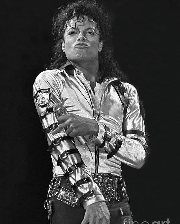 Music Legend Michael Jackson Is Shown Performing On Stage During A Live Concert Appearance Poster featuring the photograph Michael Jackson - The King of Pop by Concert Photos