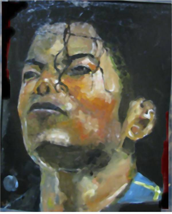 Music Poster featuring the painting Michael Jackson by Udi Peled