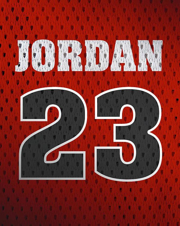pretty nice 8822f 0566c Michael Jordan Chicago Bulls Retro Vintage Jersey Closeup Graphic Design  Poster