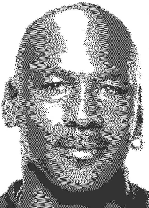 156b176fb0487f Michael Jordan - Cross Hatching Poster by Samuel Majcen