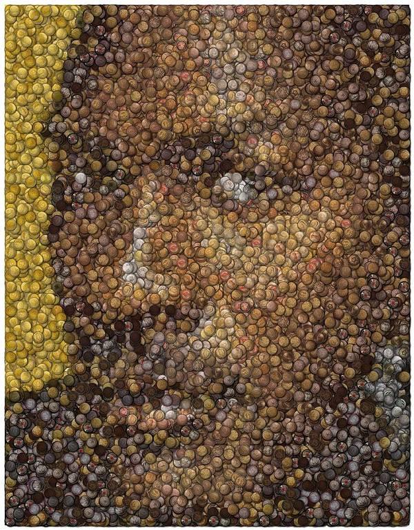 Chicago Poster featuring the digital art Michael Jordan Money Mosaic by Paul Van Scott