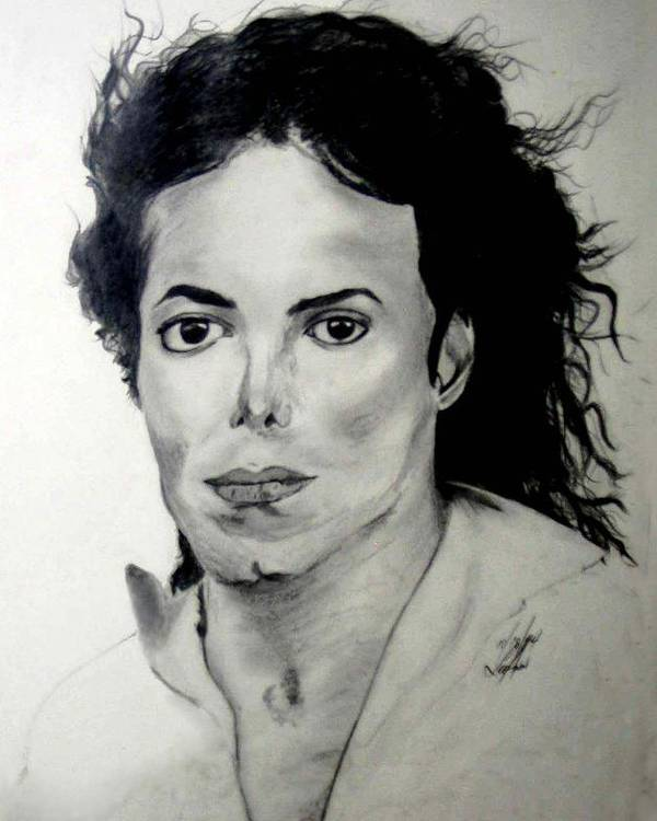 Drawing Poster featuring the drawing Michael by LeeAnn Alexander