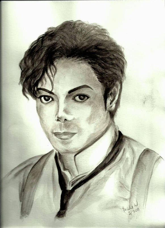 Michael Jackson Poster featuring the painting Michael by Nicole Wang