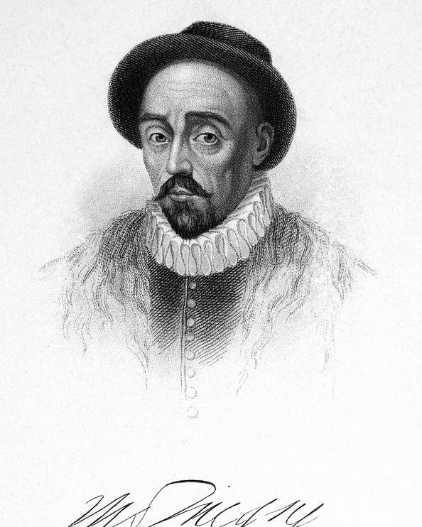 16th Century Poster featuring the photograph Michel Eyquem De Montaigne by Granger
