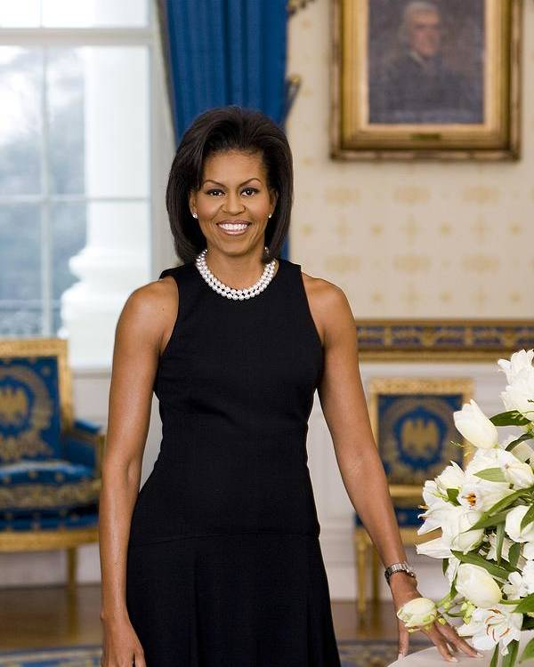 History Poster featuring the photograph Michelle Obama 1964-, In Her Official by Everett