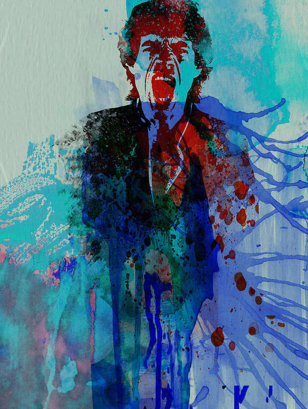 Mick Jagger Poster featuring the painting Mick Jagger by Naxart Studio