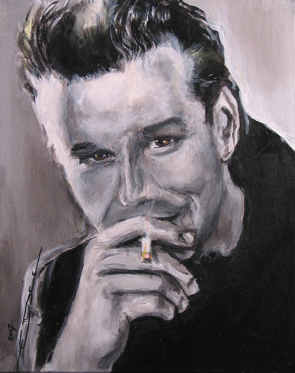 Mickey Rourke Poster featuring the painting Mickey Rourke by Eric Dee