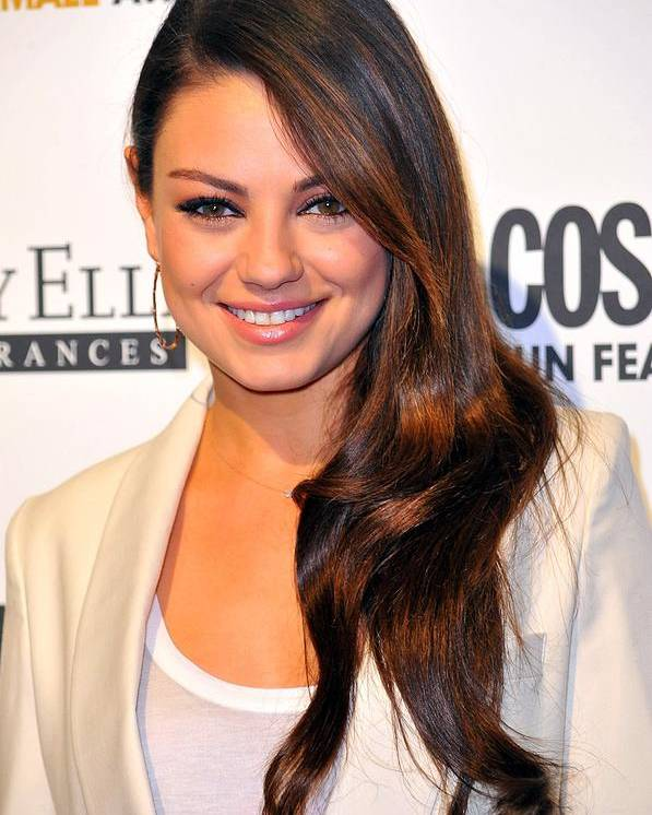 Mila Kunis Poster featuring the photograph Mila Kunis At Arrivals For Cosmopolitan by Everett
