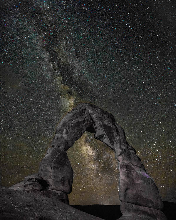 Landscape Poster featuring the photograph Milky Way Delicate Arch by Steven Hirsch