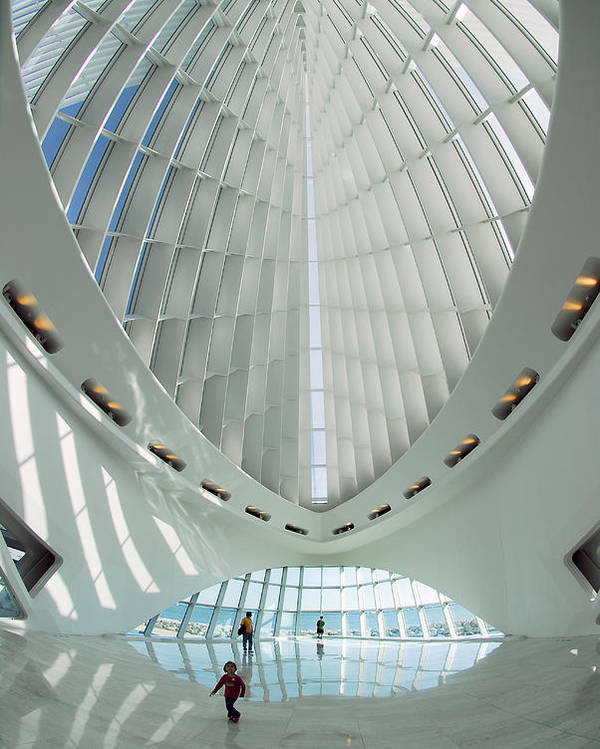 Milwaukee Poster featuring the photograph Milwaulee Art Museum - Interior View by Dmitriy Margolin