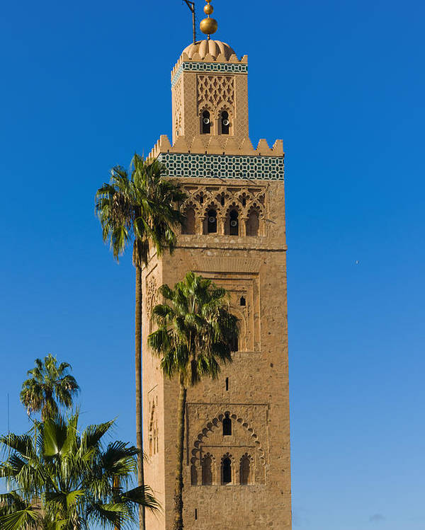 Vertical Poster featuring the photograph Minaret Of The Koutoubia Mosque, Marrakesh by Nico Tondini
