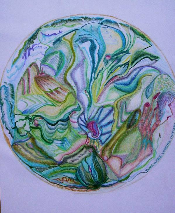Abstract Poster featuring the drawing Mind Mandala by Suzanne Udell Levinger