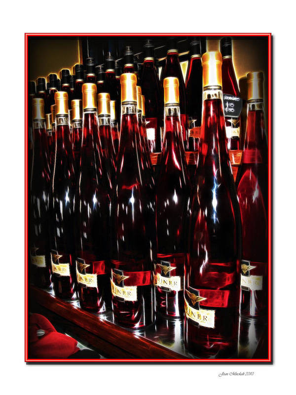 Miner Poster featuring the photograph Miner Pink Sparkling Wine by Joan Minchak