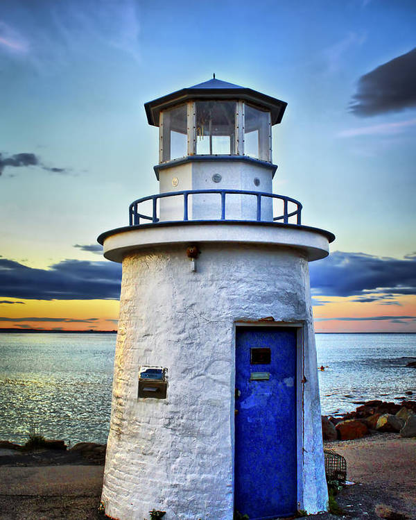 Lighthouse Poster featuring the photograph Miniature Lighthouse by Evelina Kremsdorf