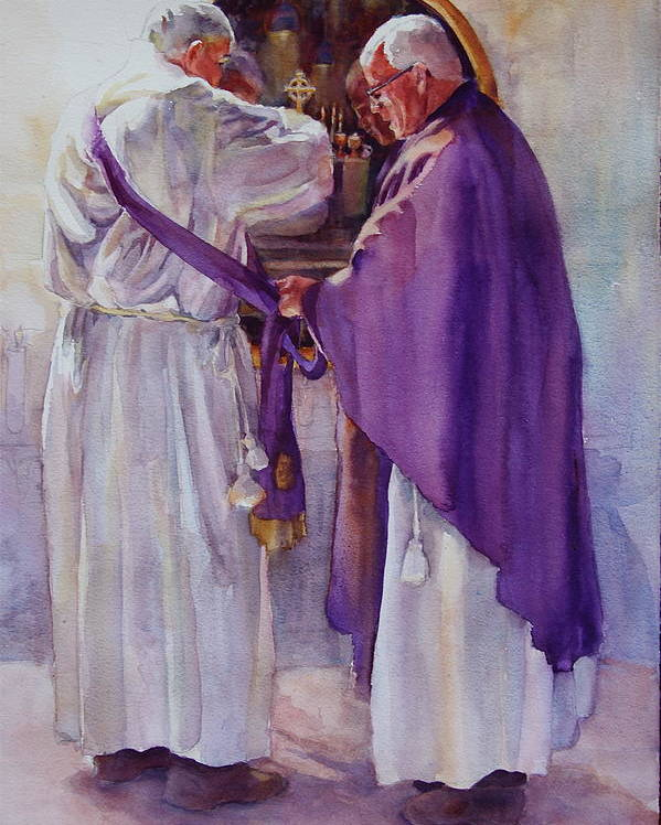 Figure Poster featuring the painting Mirroring Faith by Carolyn Epperly