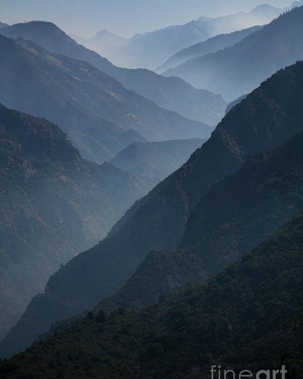 Mountains Poster featuring the photograph Misty Peaks by Timothy Johnson