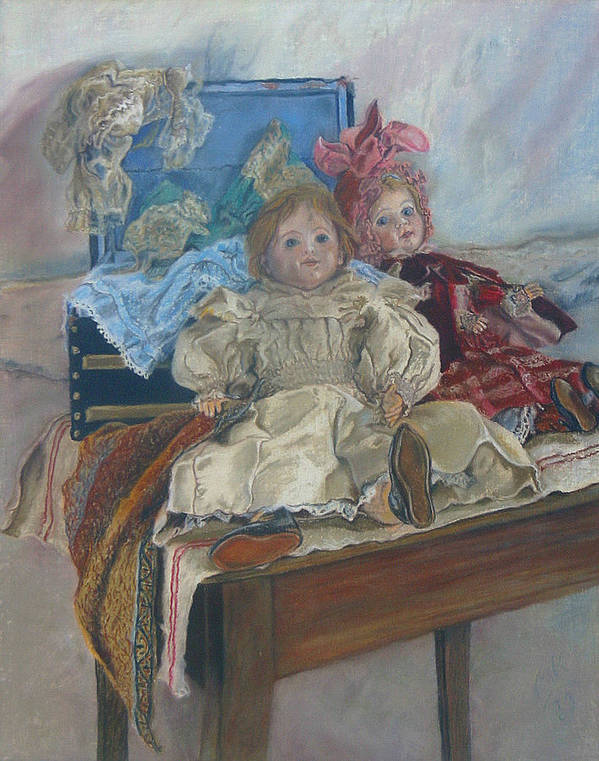 Pastel Poster featuring the painting Mlle. Pinchon by Miriam A Kilmer