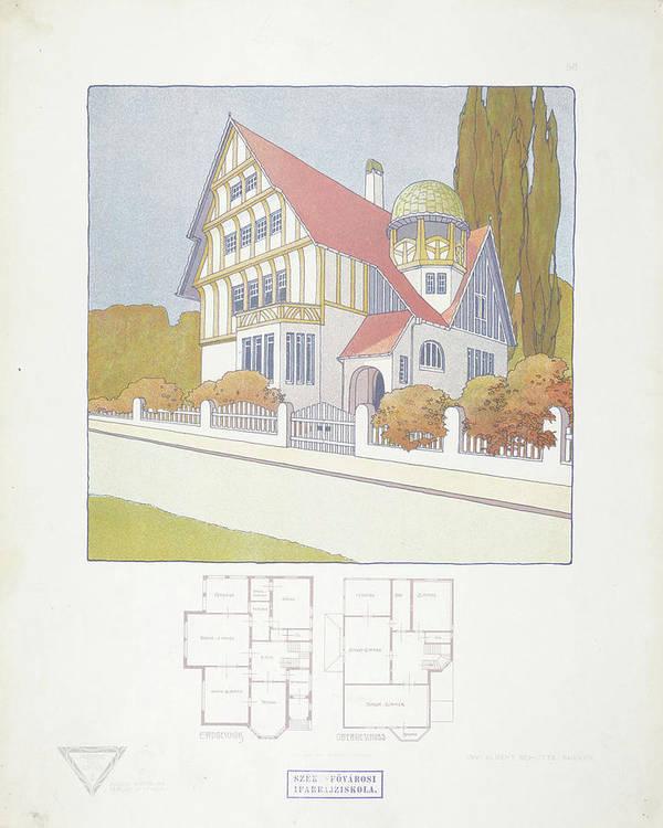 Max Joseph Gradl Poster featuring the painting Modern Design by Joseph Gradl