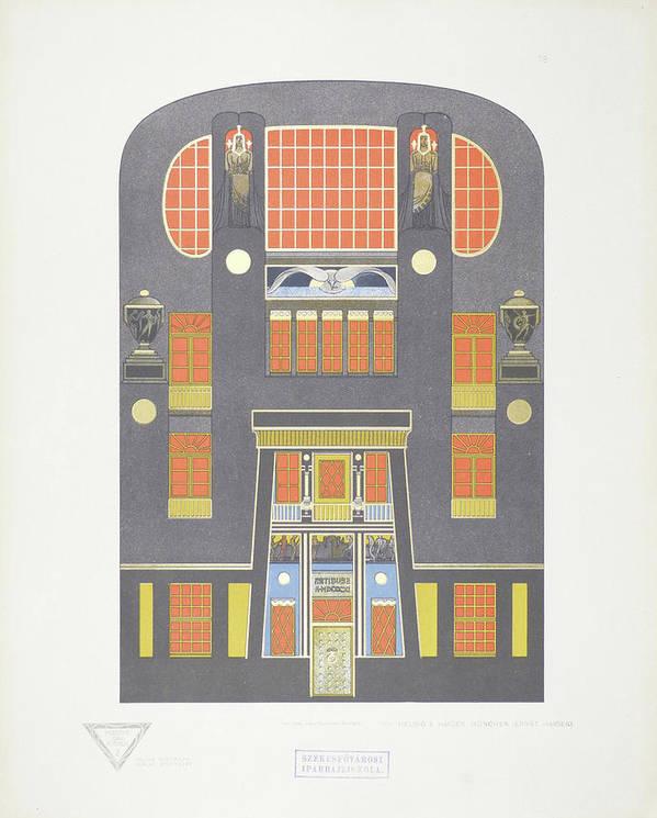Max Joseph Gradl Poster featuring the painting Modern Designs by Joseph Gradl