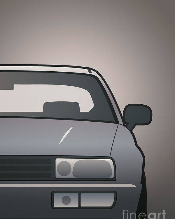 Car Poster featuring the digital art Modern Euro Icons Series Vw Corrado Vr6 by Monkey Crisis On Mars