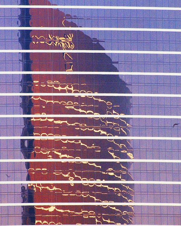 Cityscape Poster featuring the photograph Modern Reflections In Sin City by Richard Henne
