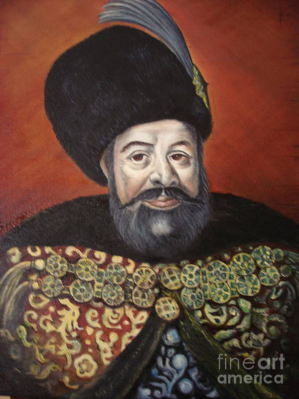 Portrait Poster featuring the painting Moldavian Prince Vasile Lupu by Sorin Apostolescu