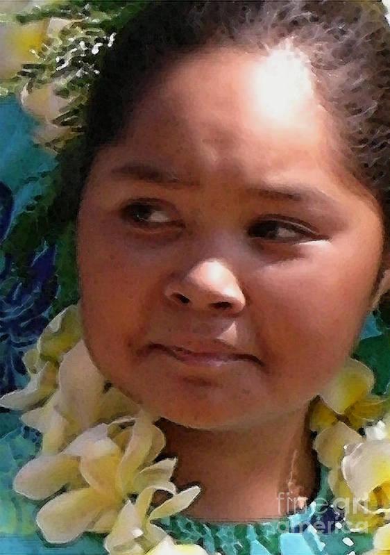 Hawaii Poster featuring the photograph Molokai Kaikamahine by James Temple