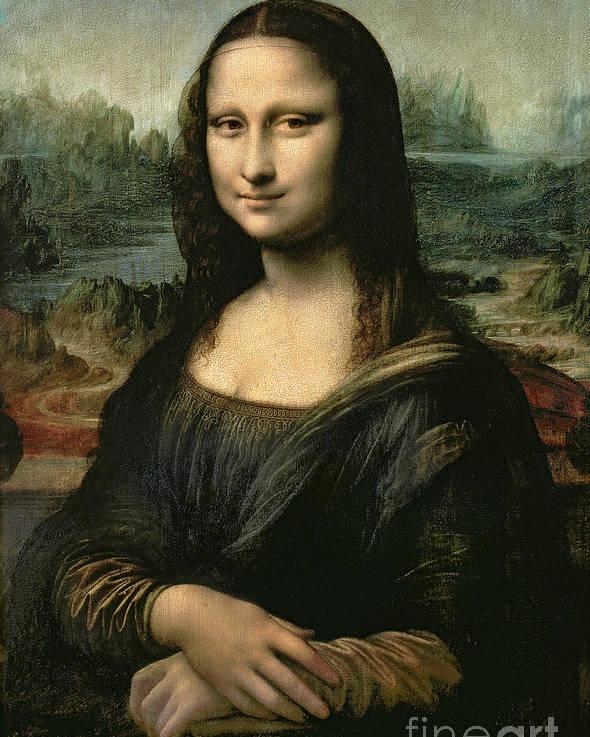 Mona Poster featuring the painting Mona Lisa by Leonardo da Vinci
