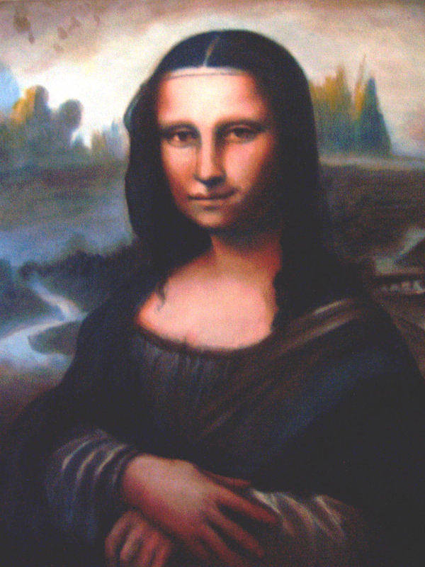 Ralph Nixon Jr Mona Lisa Poster featuring the painting Mona Lisa Replica by Ralph Nixon Jr