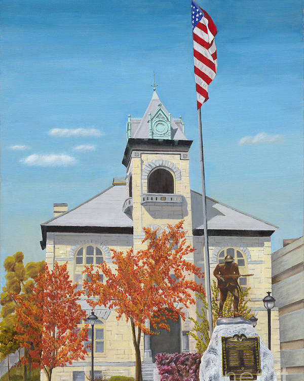Monroe County Courthouse Poster