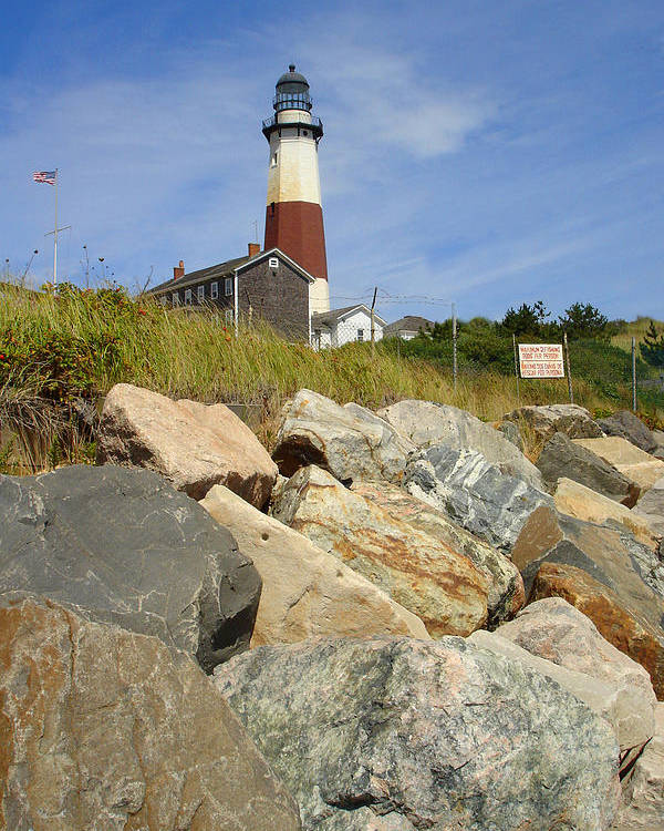 Montauk Poster featuring the photograph Montauk Lighthouse 2 by Michael Simeone