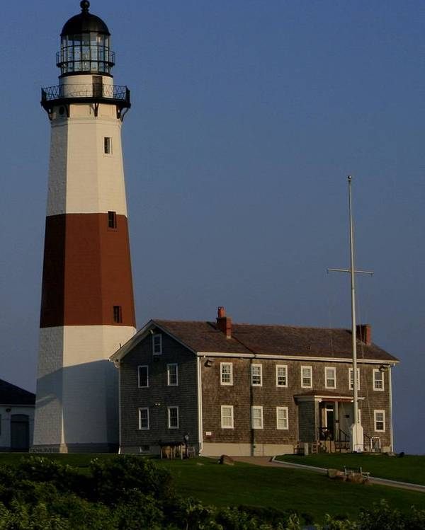Montauk Light Poster featuring the photograph Montauk Point Light by Christopher Kirby
