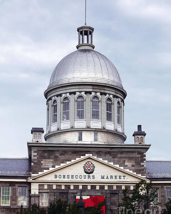 Montreal Bonsecours Market Poster featuring the photograph Montreal Bonsecours Market by John Rizzuto