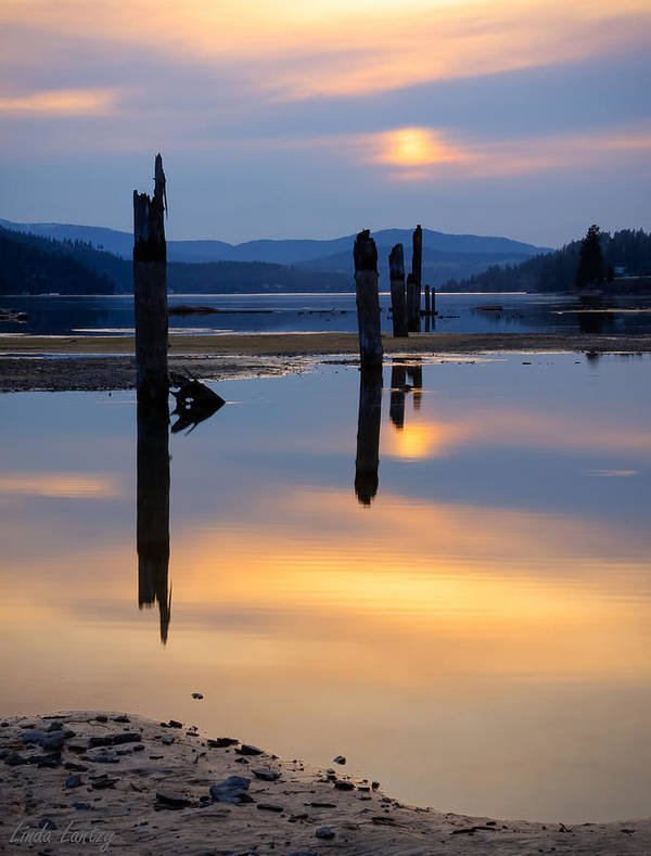 Moody Poster featuring the photograph Mood On The Bay by Idaho Scenic Images Linda Lantzy