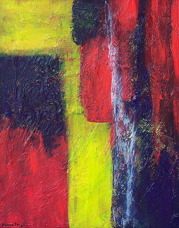 Abstract Poster featuring the painting Moods by Marcia Paige