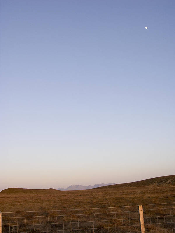 Landscape Poster featuring the photograph Moon Over The Cuillins by Dan Andersson