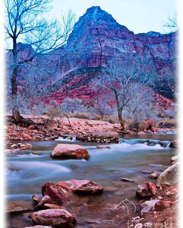 Outdoors Poster featuring the photograph Moonrise Over Zion by Irene Abdou