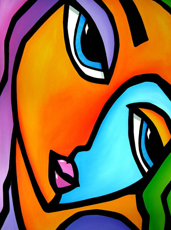 Pop Art Poster featuring the painting More Than Enough - Abstract Pop Art By Fidostudio by Tom Fedro - Fidostudio