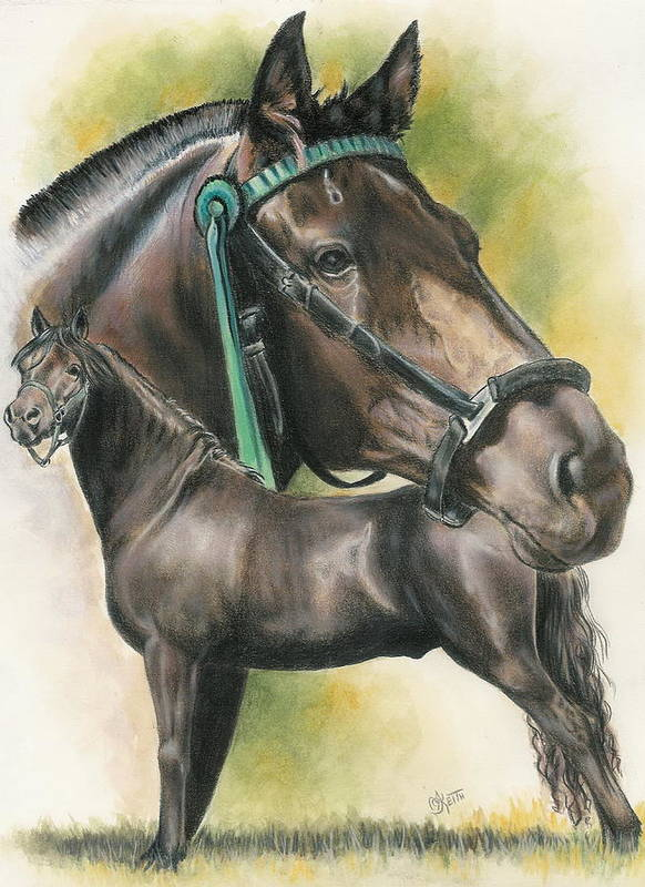 Equine Poster featuring the mixed media Morgan by Barbara Keith