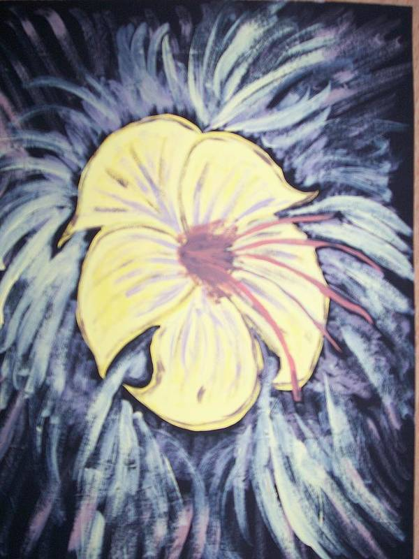 Flower Poster featuring the painting Morning Glory by Laura Lillo