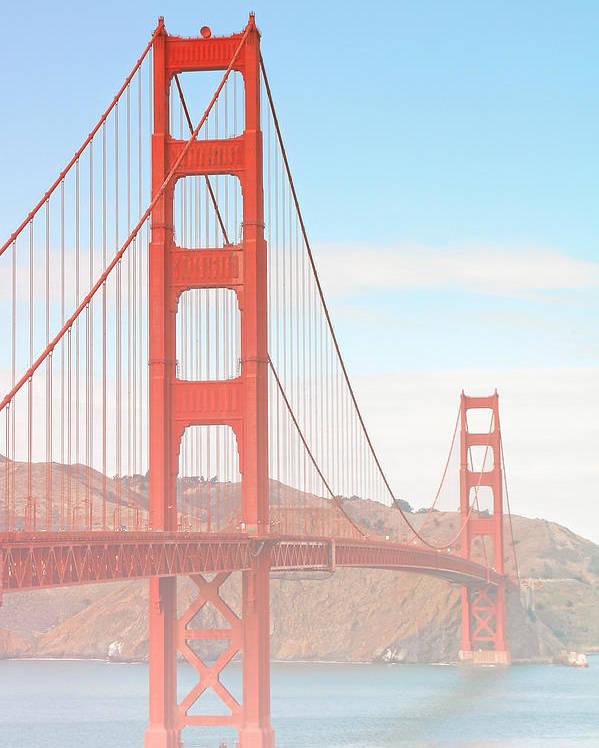 Golden Gate Bridge Poster featuring the photograph Morning Has Broken - Golden Gate Bridge San Francisco by Christine Till