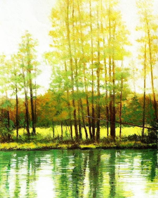 Landscape Poster featuring the painting Morning Haze by Mark Henthorn
