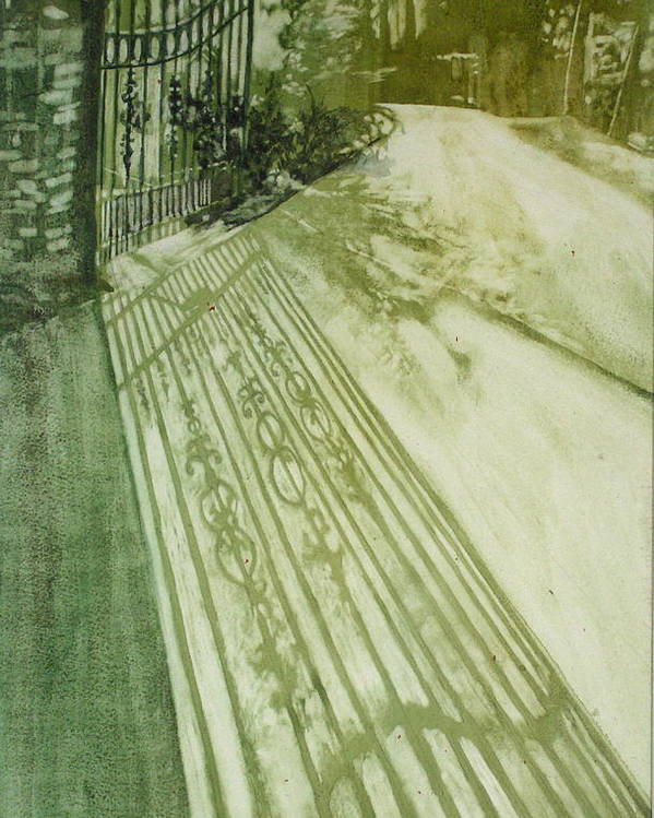 Green Poster featuring the painting Morning Light by Elizabeth Carr